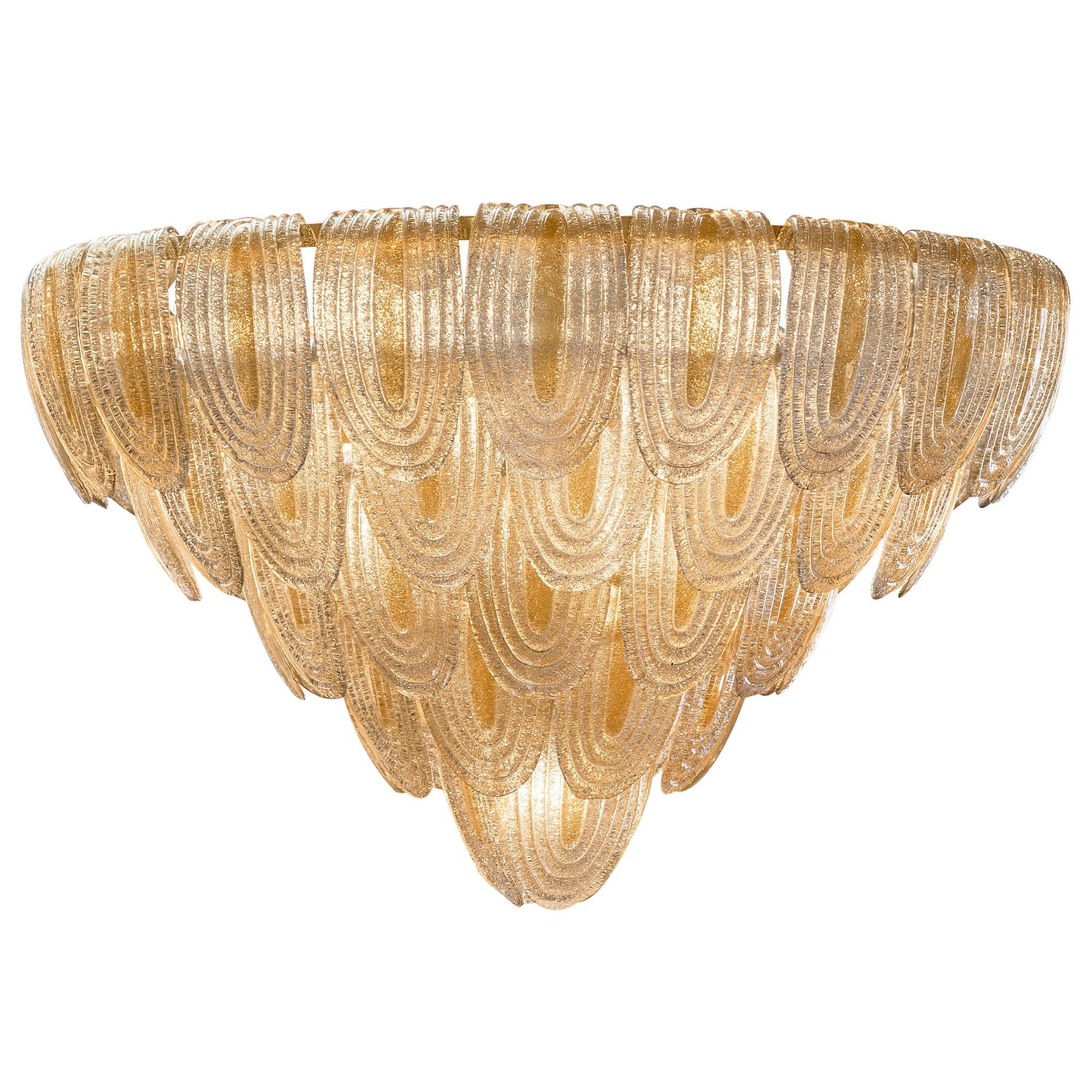 Art Deco Style Murano Glass Chandelier – Jean Marc Fray In Favorite Art Deco Chandelier (View 20 of 20)