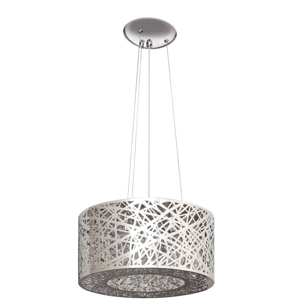 Artika 7 Light Nested Chrome Laser Cut Shade Chandelier Ome60 Hdcom For 2018 7 Light Chandeliers (Gallery 11 of 20)
