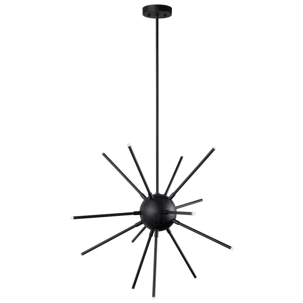 Atom Chandeliers For Well Known Kenroy Home Atom 13 Light Graphite Led Chandelier 93272Fgrph – The (Gallery 3 of 20)