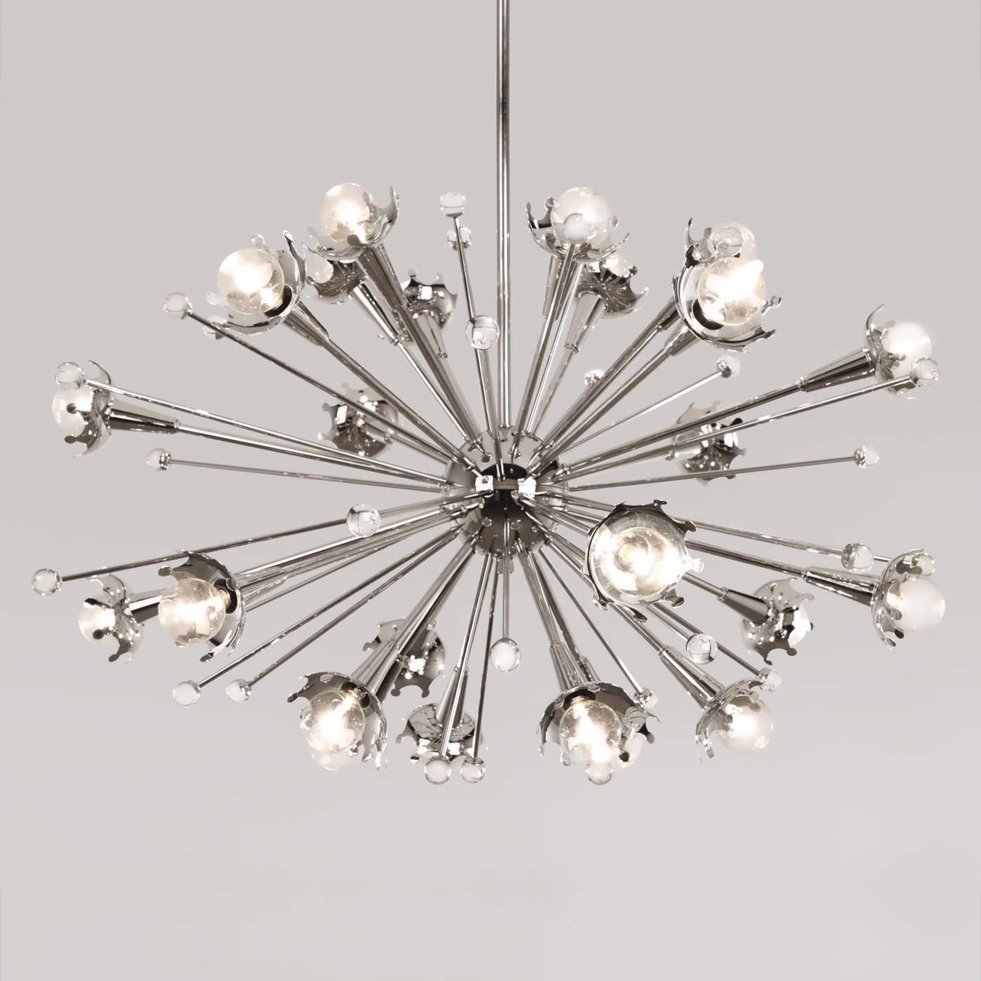 Atom Chandeliers Pertaining To Newest Chandelier : Overstock Chandeliers Chandelier Lamp Sputnik Style (View 7 of 20)