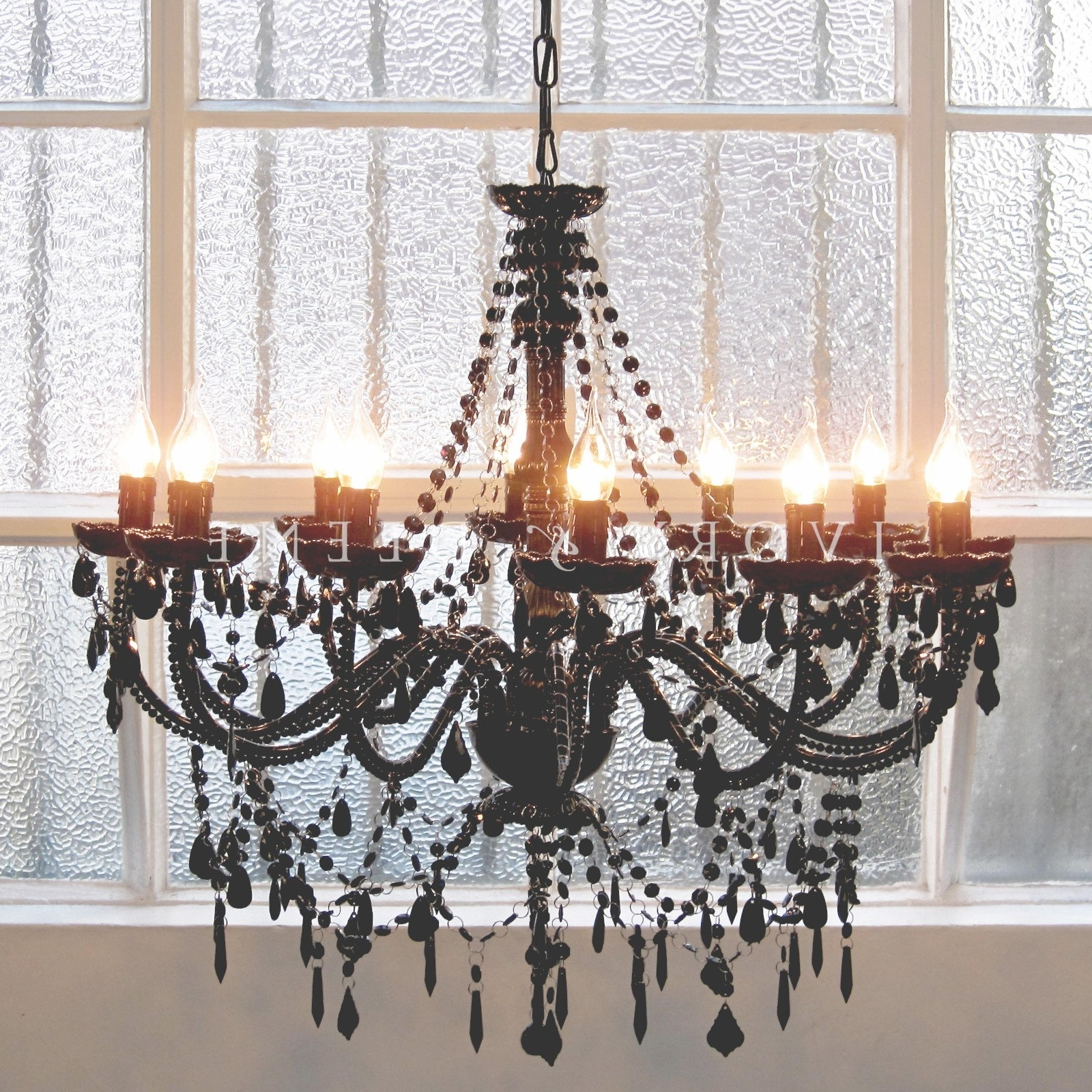 Awesome Chandelier 12 Light French Provincial Black Cassie – Ivory Intended For Well Known Large Black Chandelier (View 10 of 20)