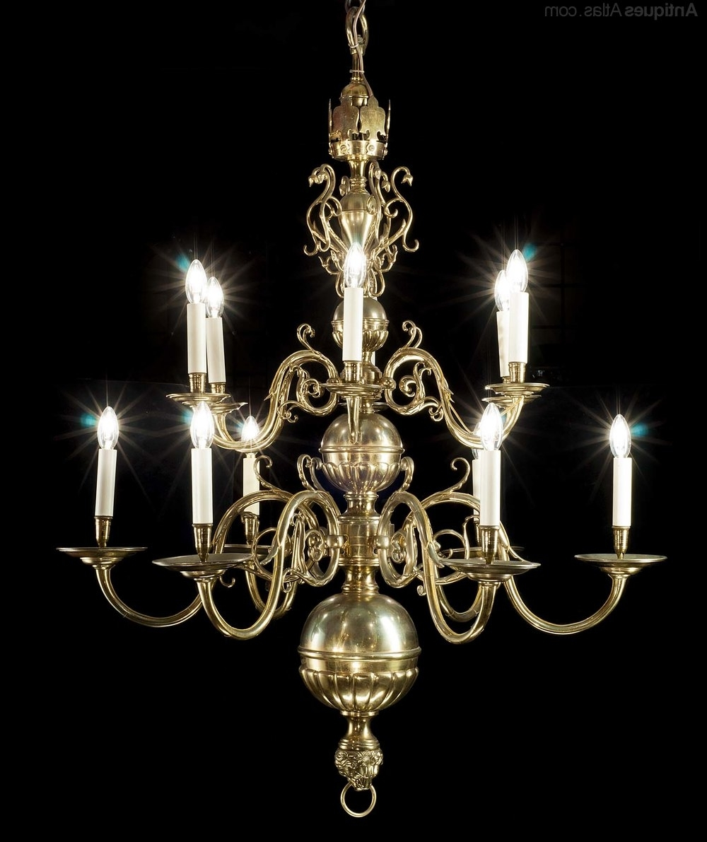 Baroque Chandelier Within Most Recently Released Antiques Atlas – A 12 Branch Dutch Baroque Style Chandelier (View 5 of 20)
