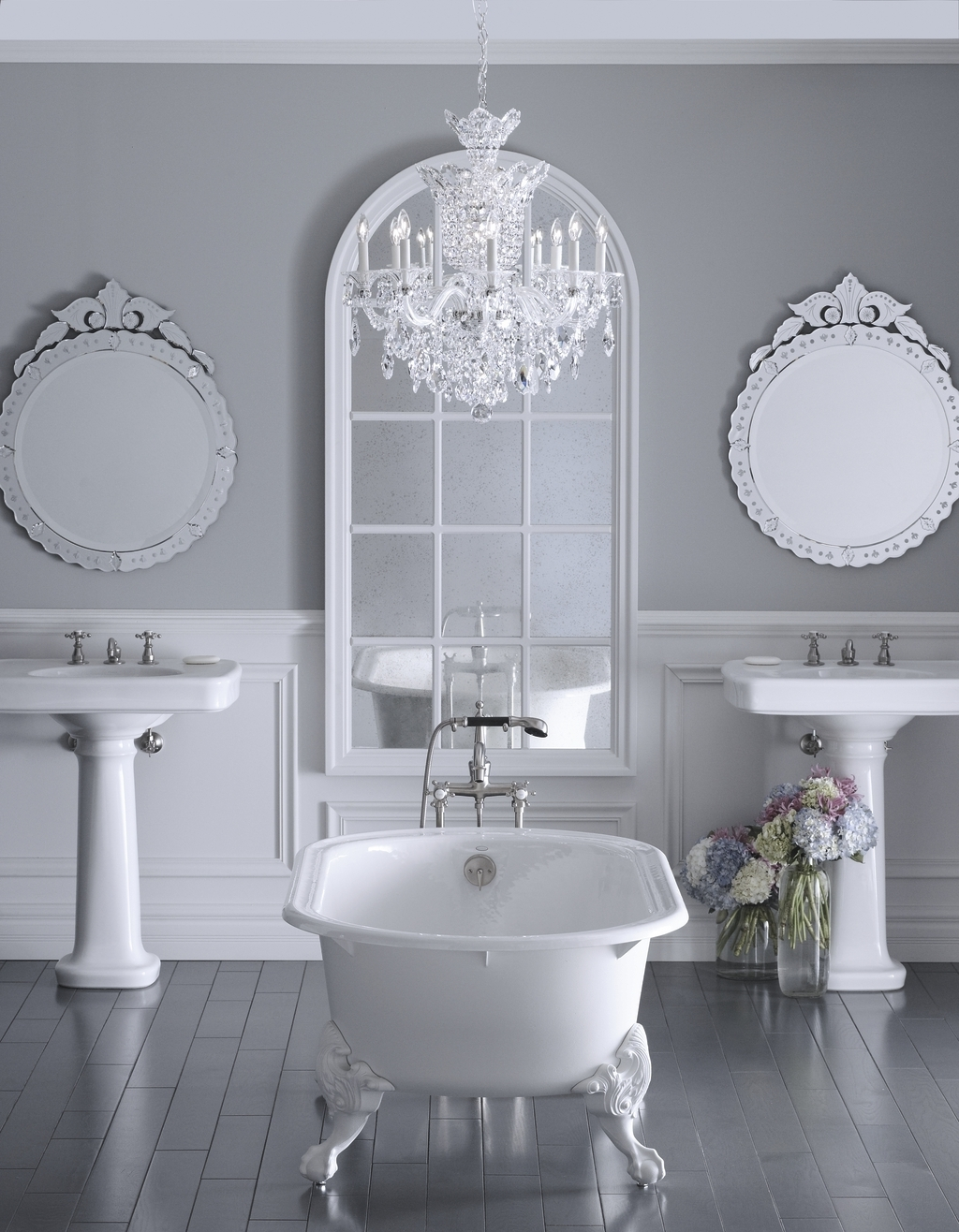 Bathroom Chandelier Lighting Pertaining To Popular Chandeliers Design : Fabulous Wondrous Bathtub Photos Glamorous (View 6 of 20)