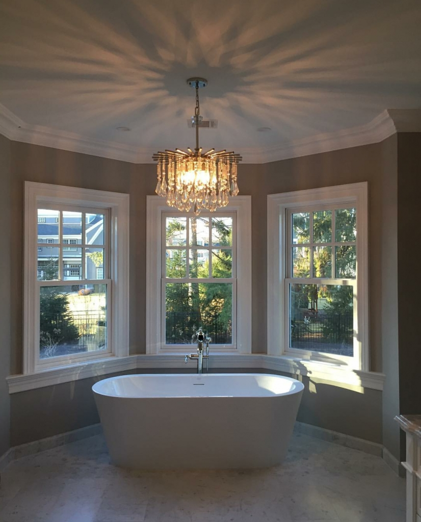Bathroom Chandeliers Intended For Most Recent On Trend: Bathroom Chandeliers – Hip New Jersey (View 10 of 20)
