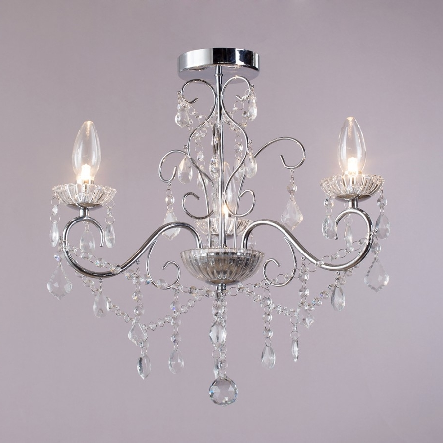 Bathroom Chandeliers Sale With Regard To Trendy Chandelier: Extraordinary Home Depot Crystal Chandelier Lighting (View 3 of 20)