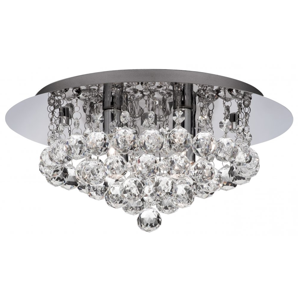 Bathroom Ideas: Bathroom Chandeliers With Round White Crystal Within Well Known Modern Silver Chandelier (View 3 of 20)