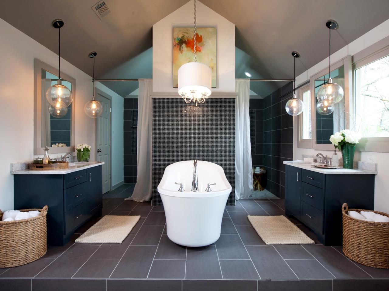 Bathroom: Modern Bathroom Chandeliers With Gold Frame In Small With Favorite Modern Bathroom Chandeliers (View 1 of 20)