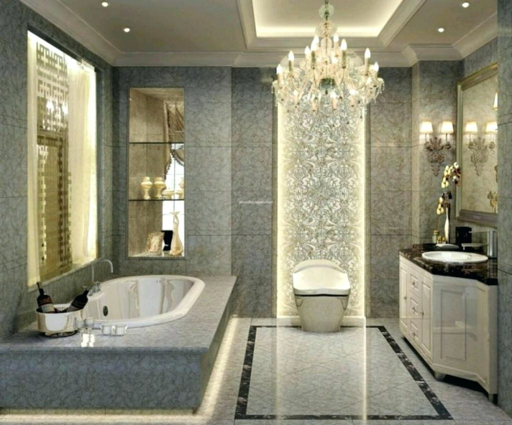 Bathroom Safe Chandeliers Regarding Famous Chandeliers ~ Chandeliers For Master Bathroom Chandeliers Safe For (View 5 of 20)