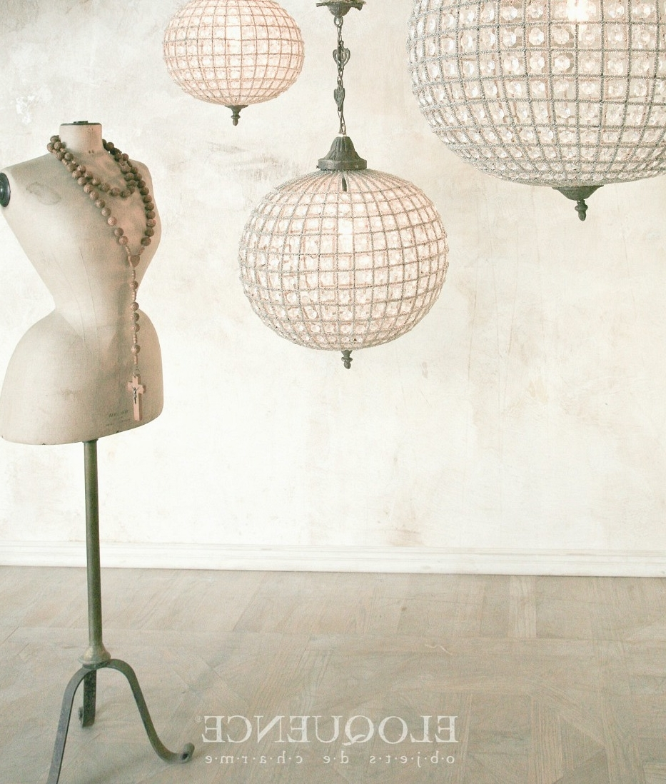 Beaded Globe Chandelier Intended For Fashionable Eloquence Globe Chandelier (View 3 of 20)