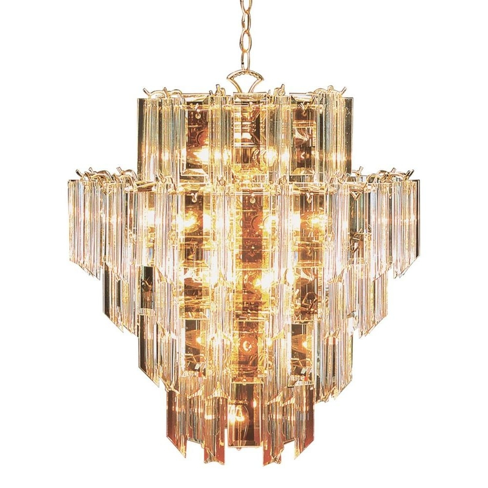 Bel Air Lighting Stewart 16 Light Bronze Chandelier With Beveled With Regard To Well Liked Acrylic Chandelier Lighting (View 1 of 20)