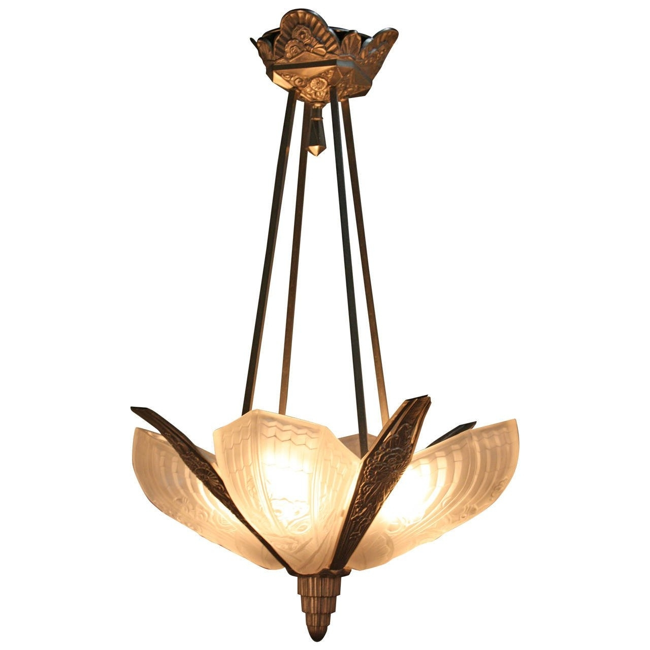 Best And Newest Art Deco Chandelier Intended For 1920S Art Deco Chandelier At 1Stdibs (View 6 of 20)