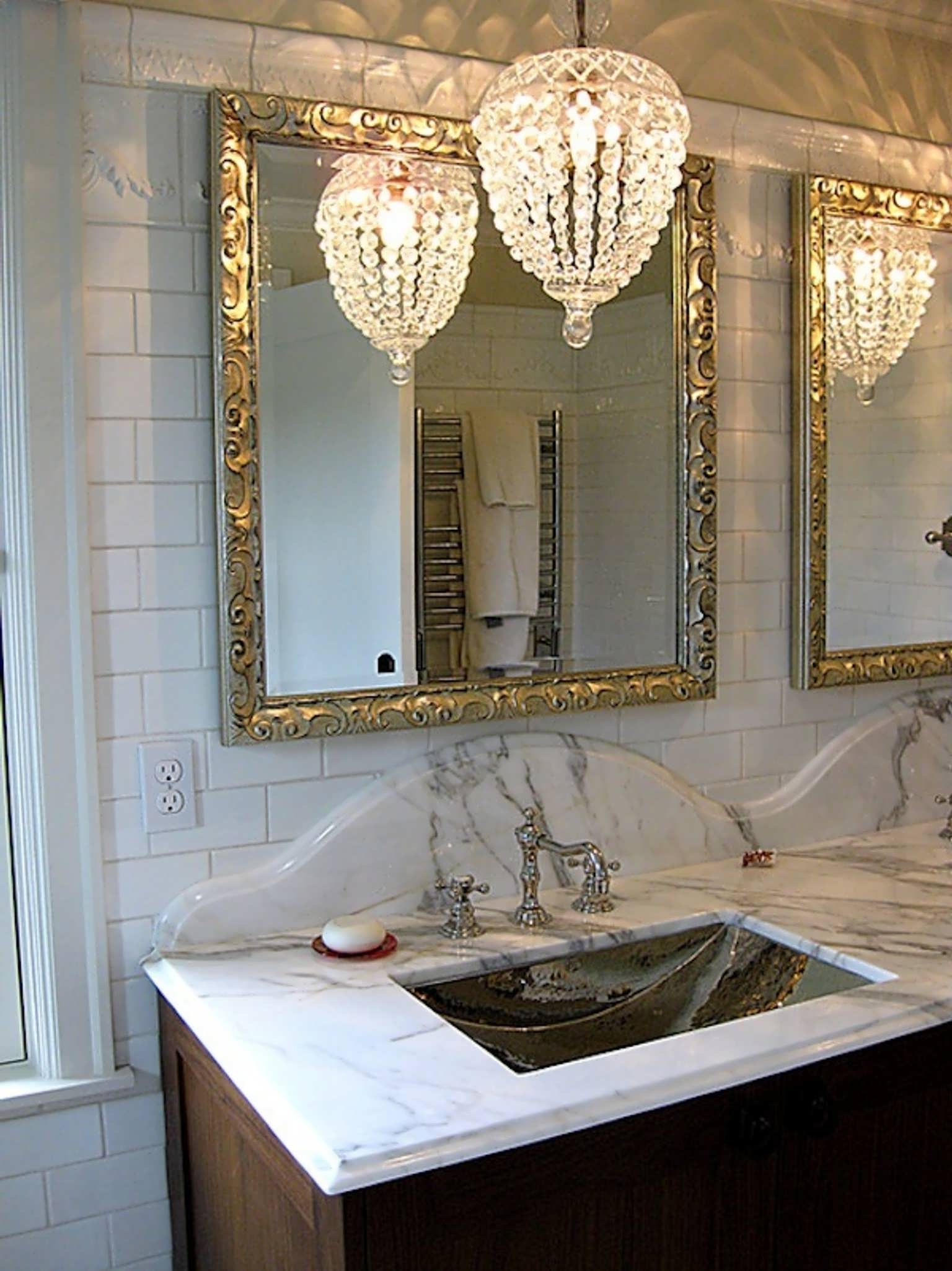 Best And Newest Bathroom Chandelier Lighting Throughout Chandelier : Bathroom Chandelier Lighting Black Mini Chandelier (View 15 of 20)