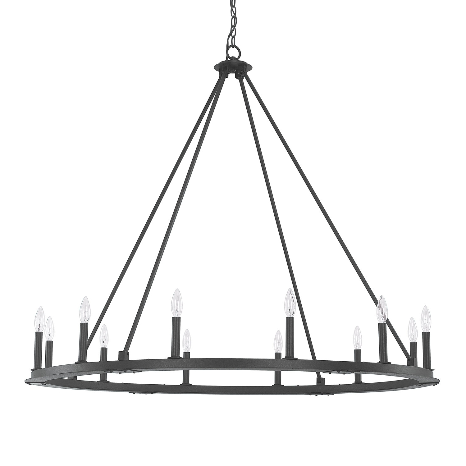 Best And Newest Black Iron Chandeliers For Capital Lighting Fixture Company Pearson Black Iron Twelve Light (View 3 of 20)