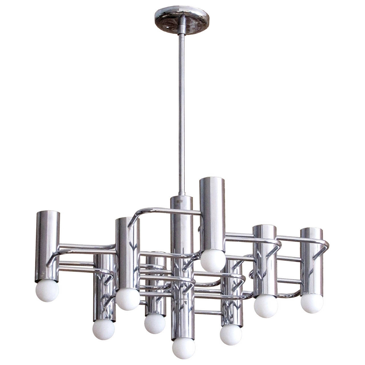 Best And Newest Boulanger Chrome Chandelier, 1960 For Sale At 1stdibs Within Chrome Chandeliers (View 7 of 20)