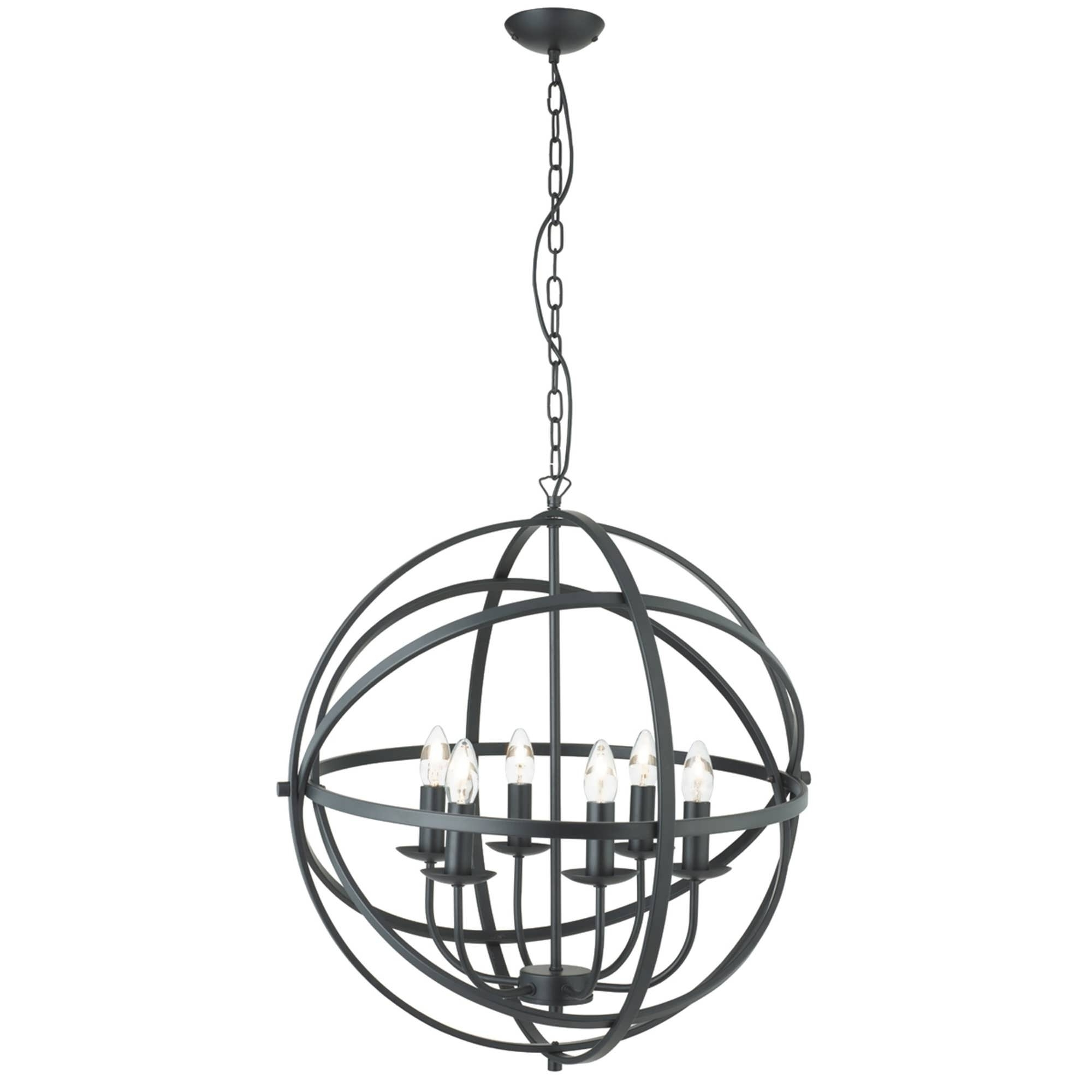 Best And Newest Chandeliers Design : Marvelous Iron Orb Chandelier Rustic Pertaining To Metal Ball Chandeliers (View 2 of 20)