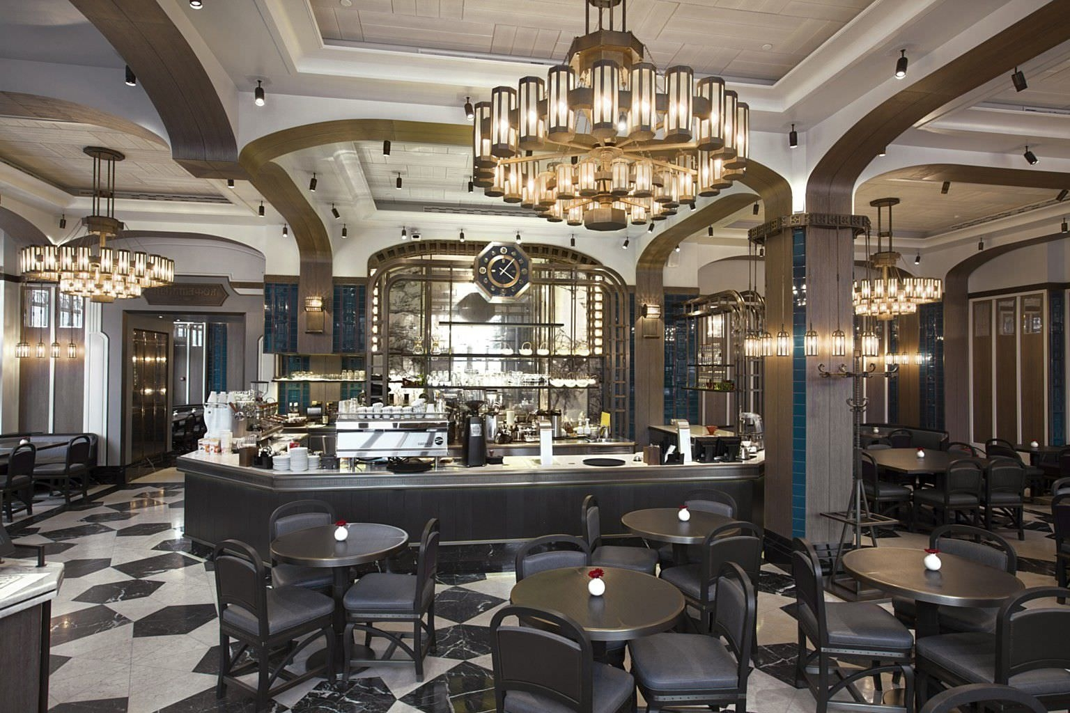 Best And Newest Contemporary Chandelier / Glass / Brass / Led – Coffeemania – Lasvit Pertaining To Restaurant Chandelier (View 3 of 20)