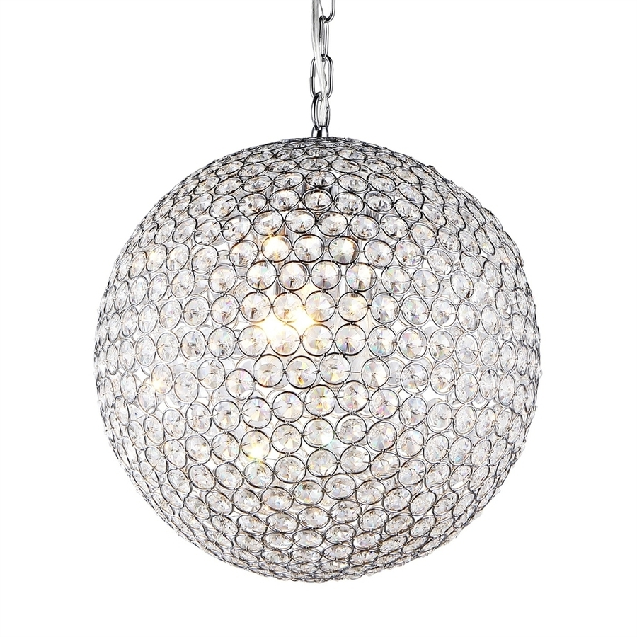 Best And Newest Crystal Globe Chandelier Inside Shop Warehouse Of Tiffany Jasmine 16 In 2 Light Chrome Crystal (View 4 of 20)