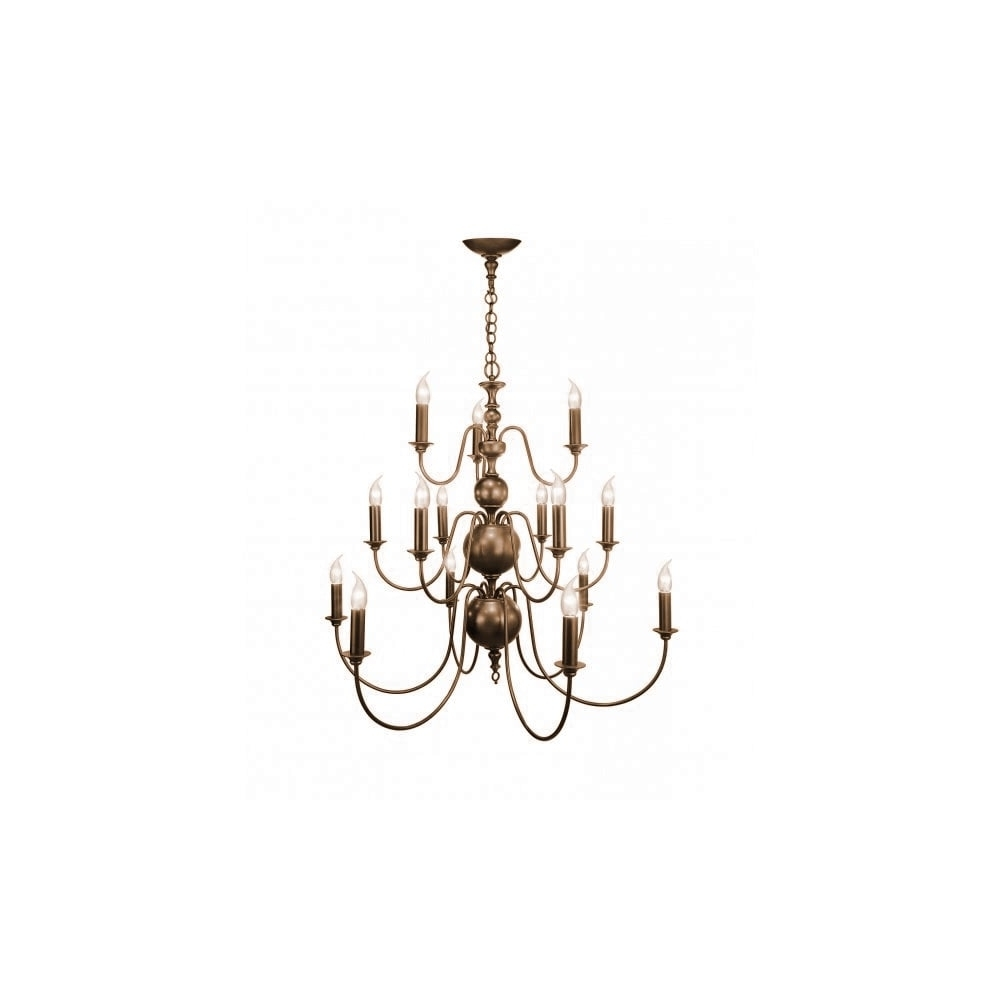 Best And Newest Flemish Large Bronze Regency Style Chandelier With 15 Candle Lights With Regard To Large Bronze Chandelier (View 18 of 20)