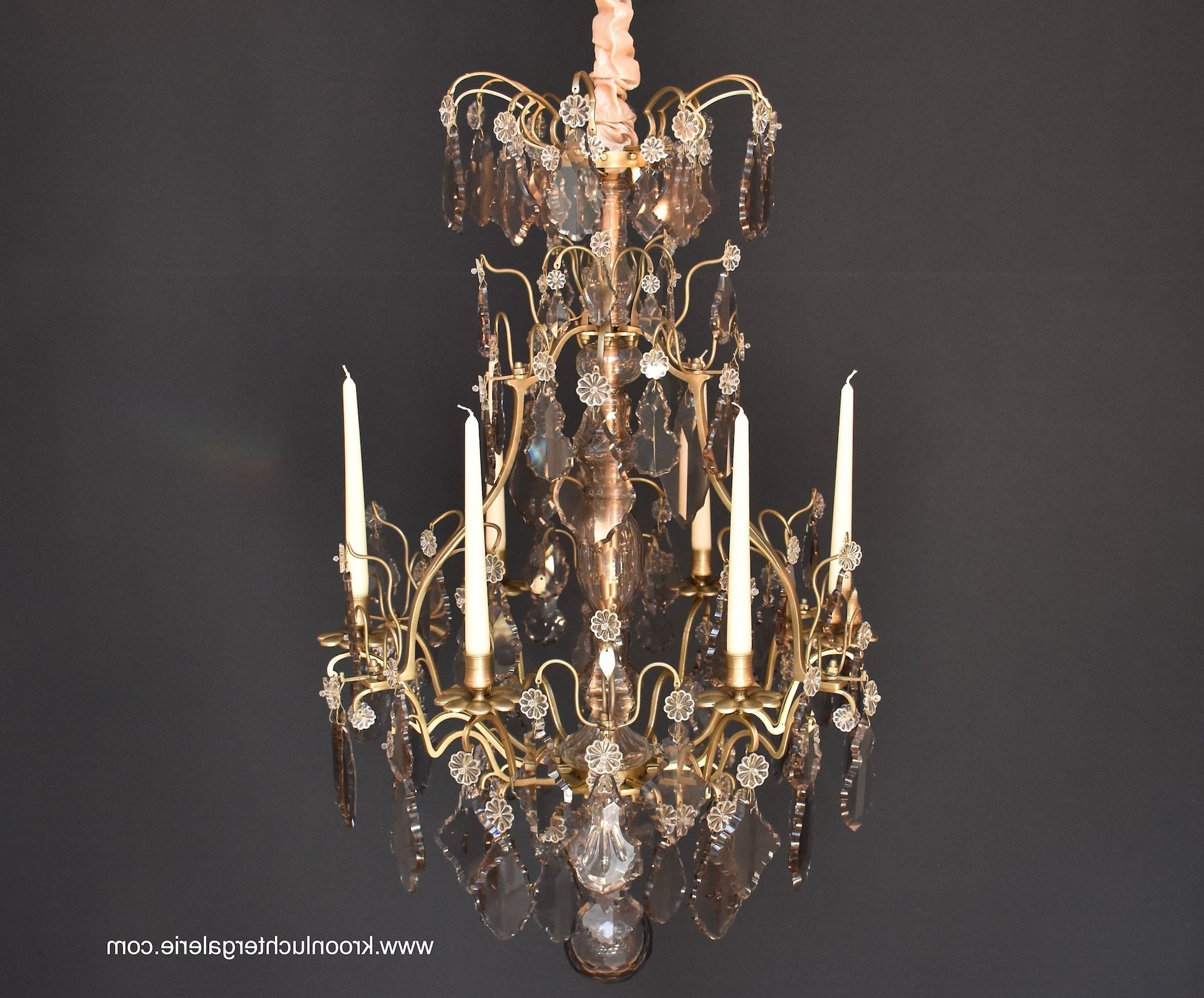 Best And Newest French Chandelier With Candles In The Style Of Louis Xv, Ref (View 12 of 20)
