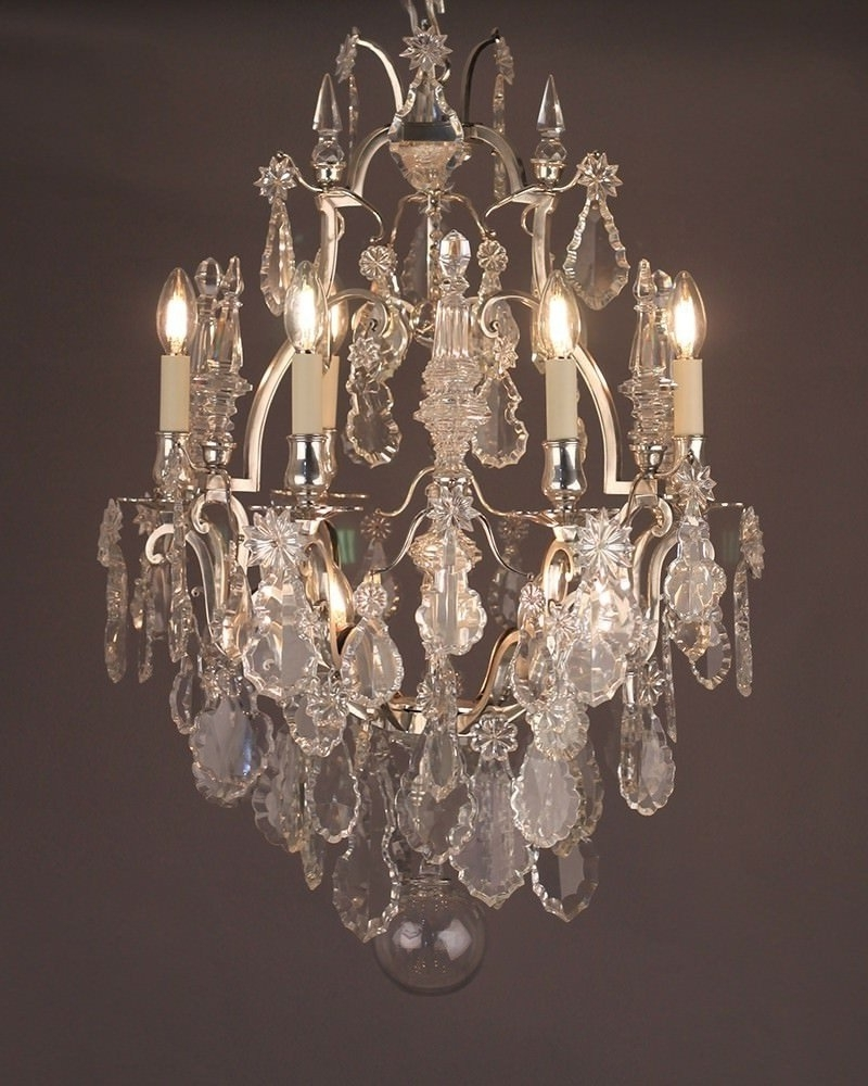 Best And Newest French Crystal 6 Branch Cage Chandelier Within French Chandelier (View 5 of 20)