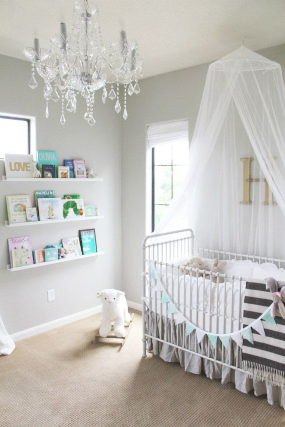 Best And Newest Kids Room : White Cozy Best Baby Nursery Chandelier To Select Intended For Kids Bedroom Chandeliers (View 4 of 20)