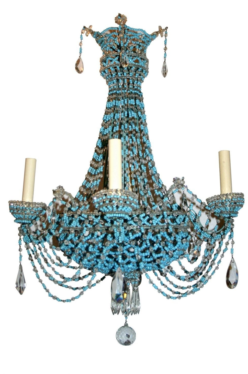 Best And Newest Lighting : Regina Andrew Turquoise Chandelier Light Wood Diy Small Intended For Diy Turquoise Beaded Chandeliers (View 4 of 20)