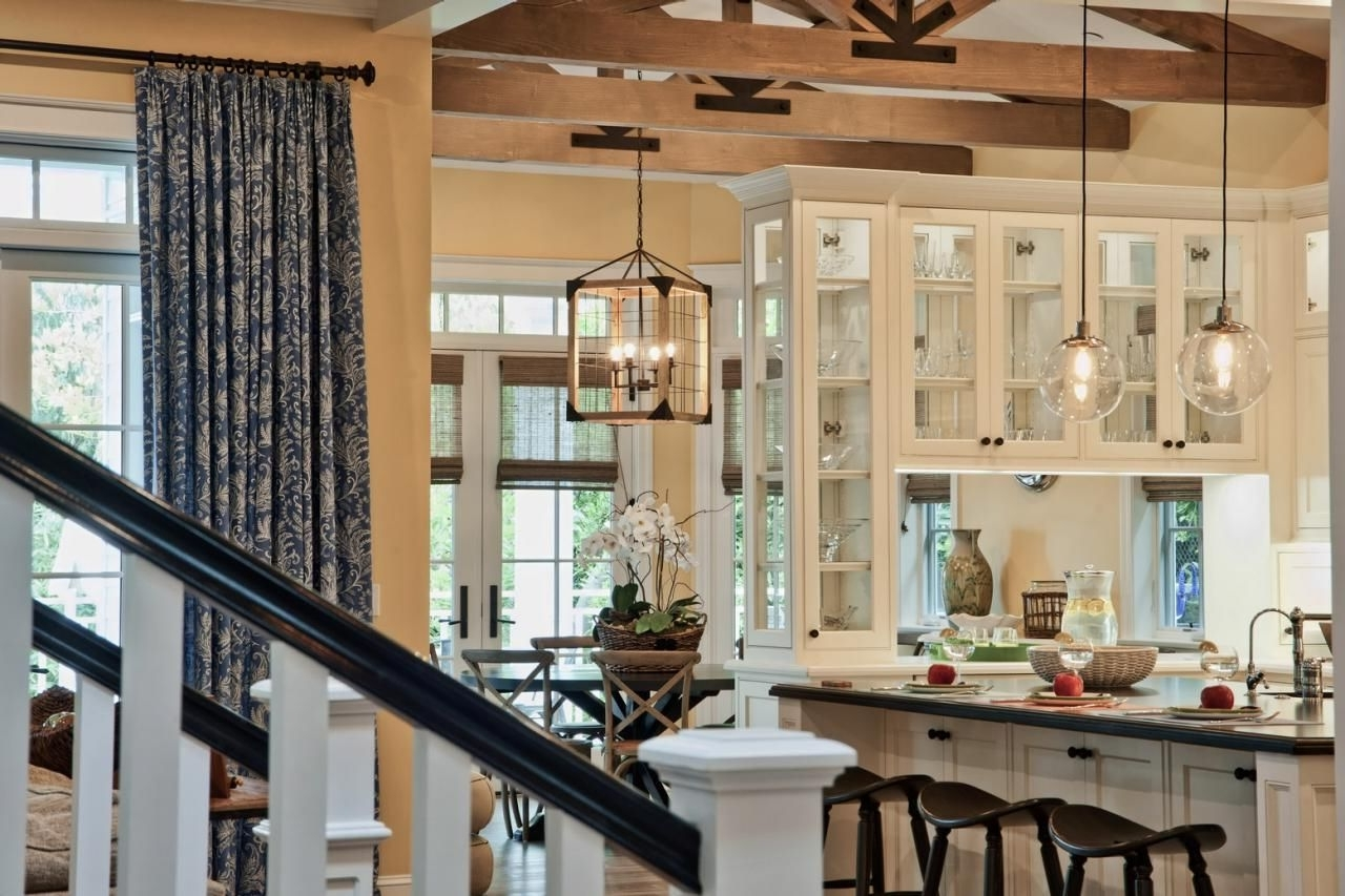 Best And Newest Mixing Glass Pendant Lights And A Rustic Caged Chandelier Creates A Inside Caged Chandelier (View 3 of 20)