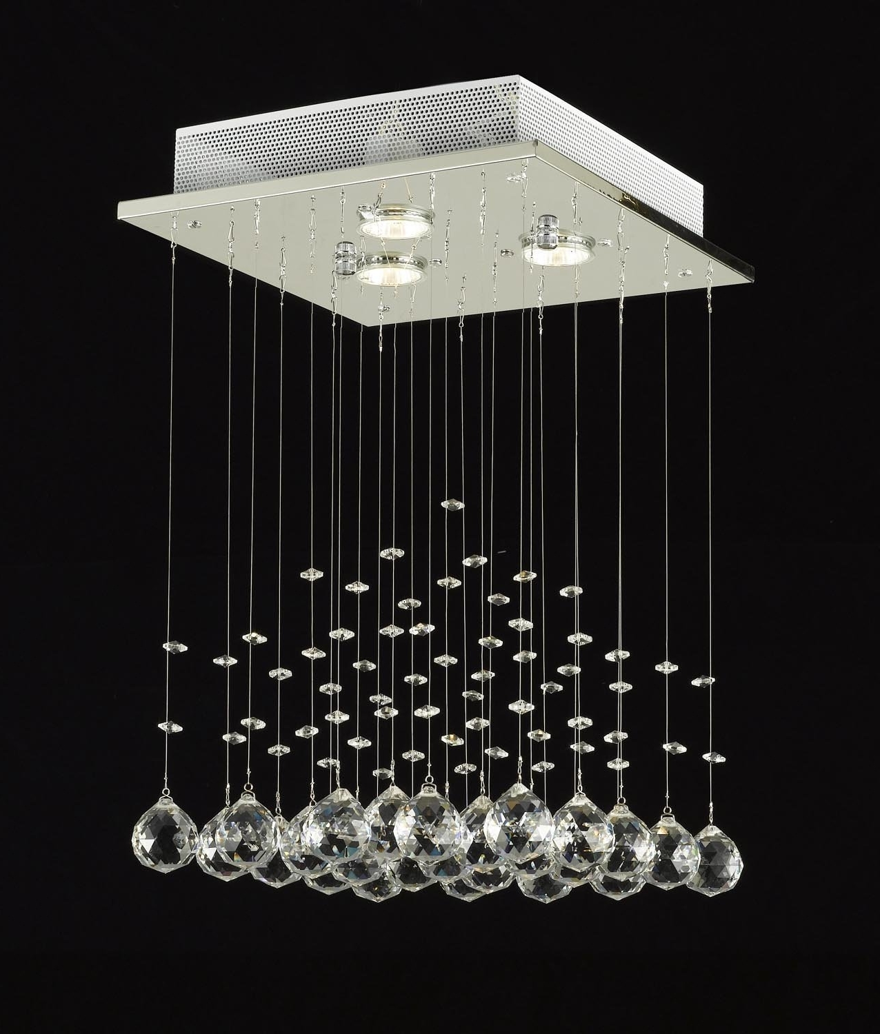 Best And Newest Modern Chandelier Lighting Pertaining To Jac Dlights J10 C9071S 3Usrn Rain Drop Lighting Crystal Ball (View 1 of 20)