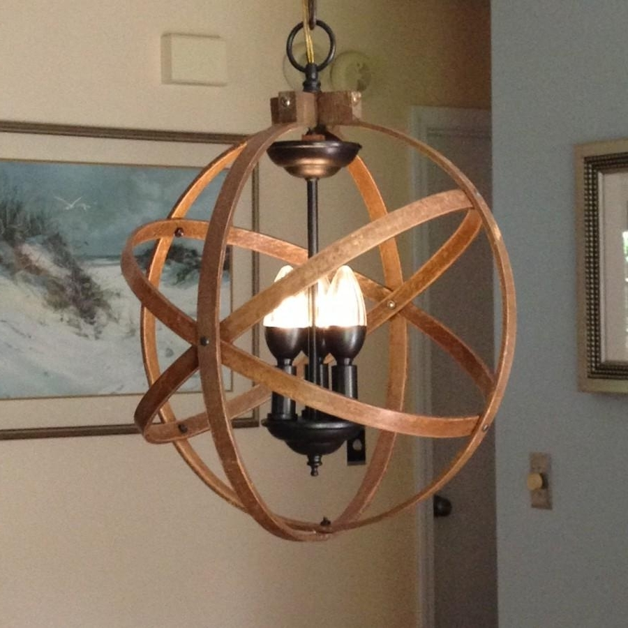 "Best And Newest Orb Chandelier Inside Orb Chandelier Light 14"" Atomic Light Fixture Industrial Lighting (View 5 of 20)"