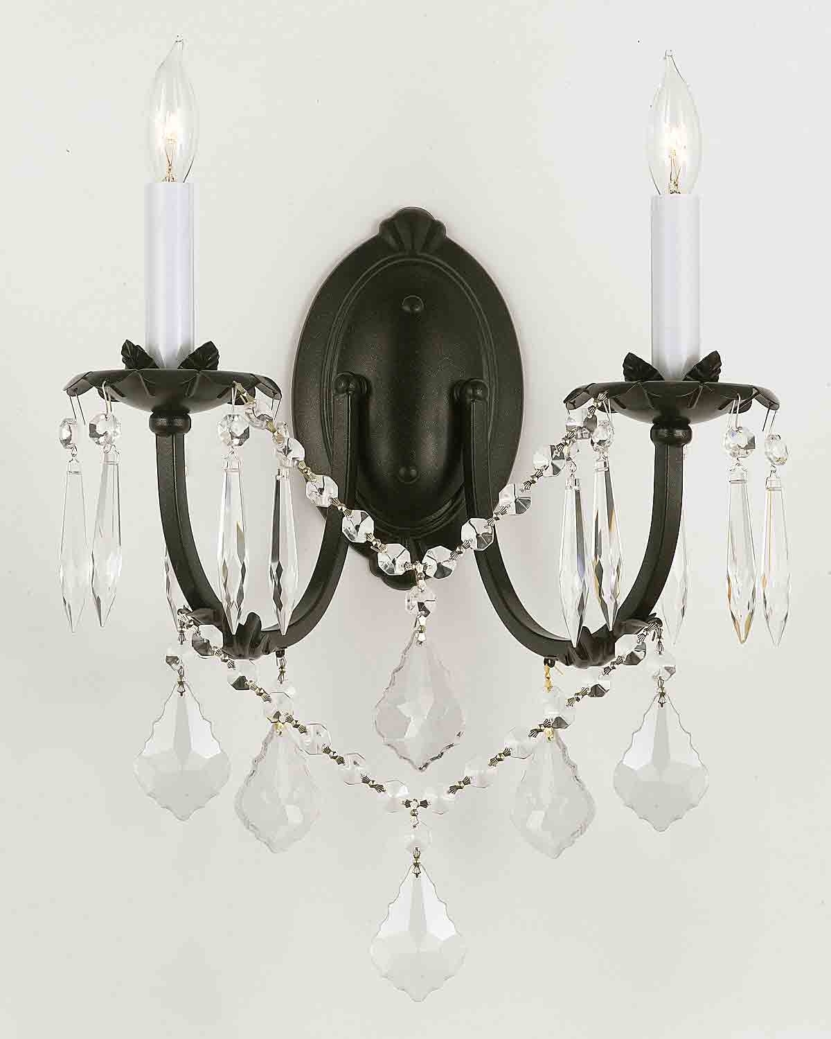 Best And Newest Wall Chandelier – Crystal Wall Scones – Wall Lighting Fixtures Inside Black Chandelier Wall Lights (View 4 of 20)