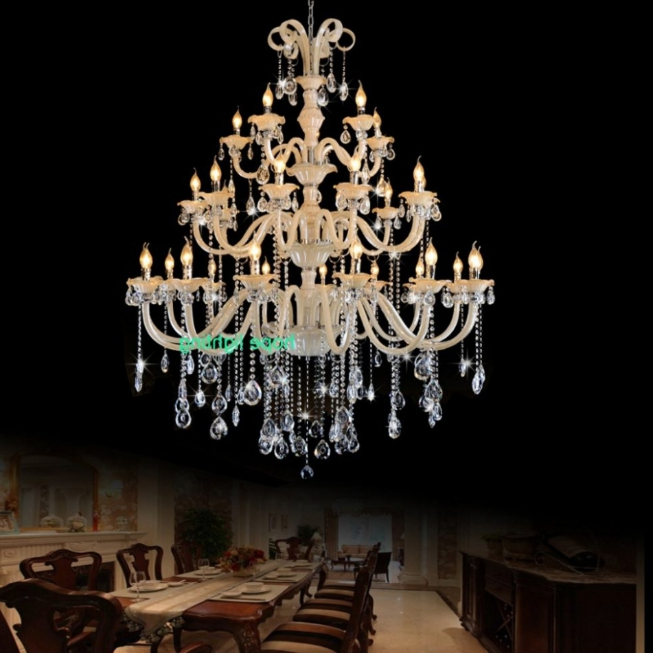 Big Crystal Chandelier Within Popular Chandelier ~ Chandelier : Foyer Crystal Chandelier Big Crystal (View 6 of 20)
