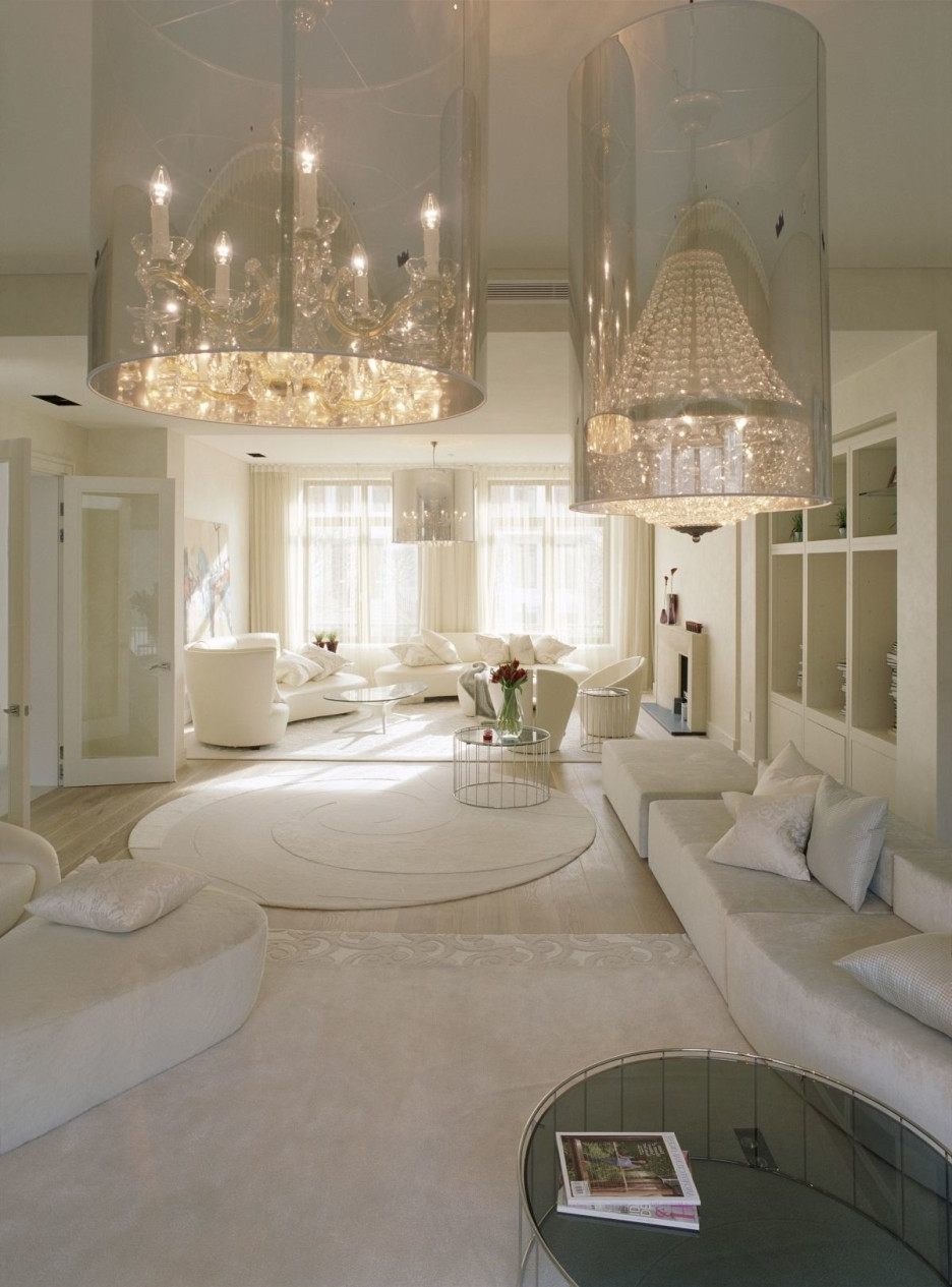 Big Crystal Chandeliers In Bedroom With Glass Tube Shades – Elegant Inside Favorite Chandeliers In The Bedroom (View 18 of 20)