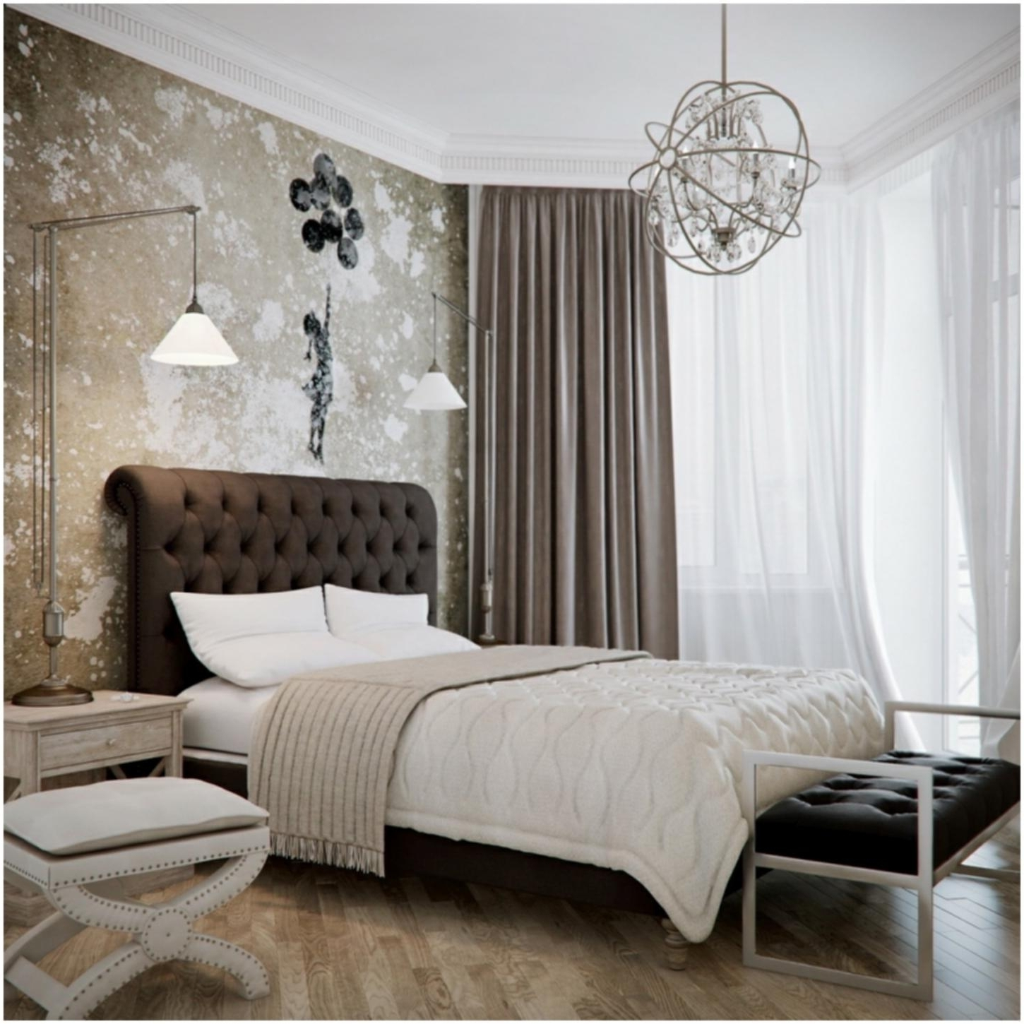 Black Chandelier Bedroom – House Designs Photos Throughout Fashionable Black Chandelier Bedroom (View 14 of 20)