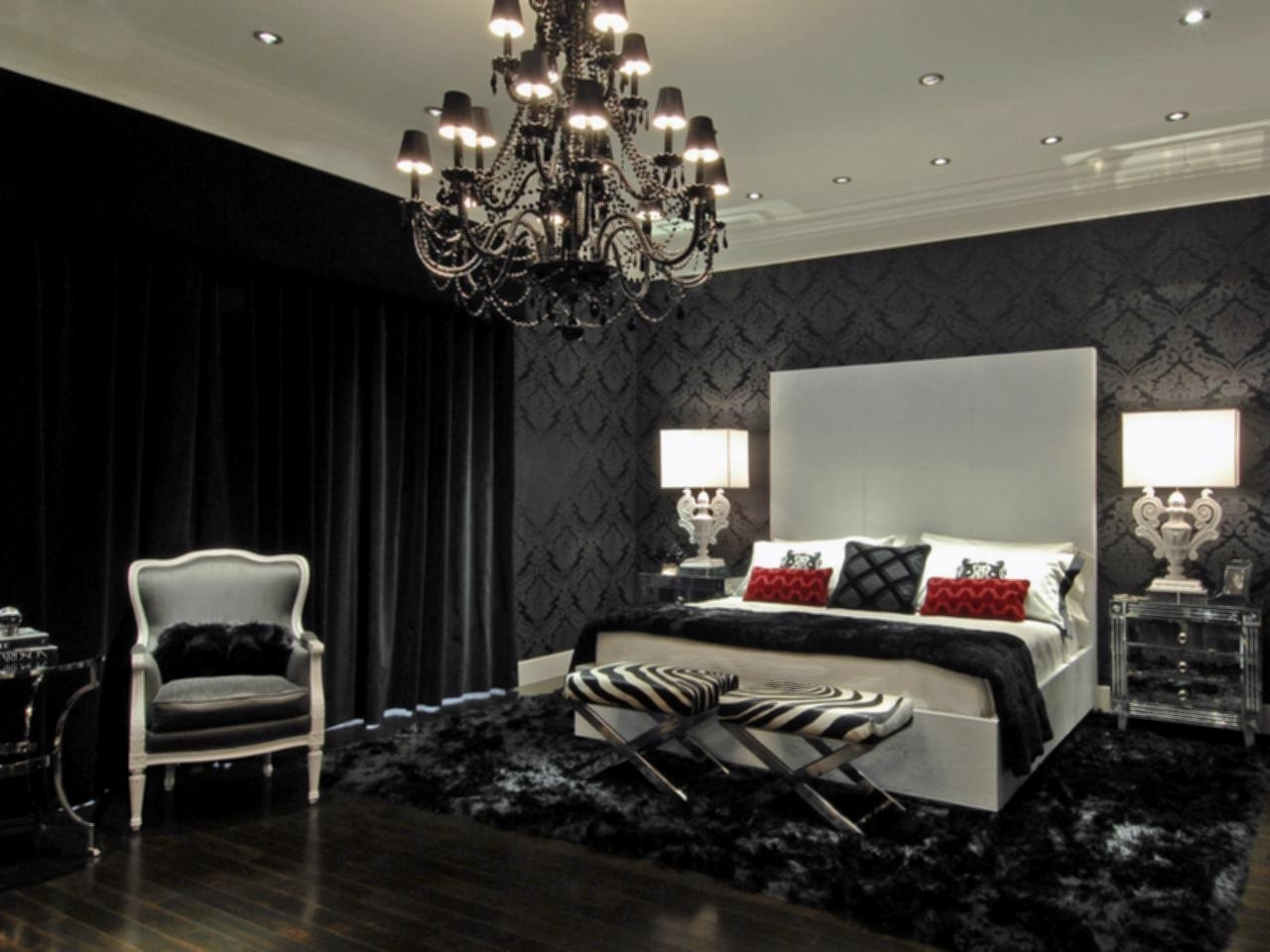 Black Chandelier Bedroom Regarding Recent Black Chandelier Bedroom – House Designs Photos (View 10 of 20)