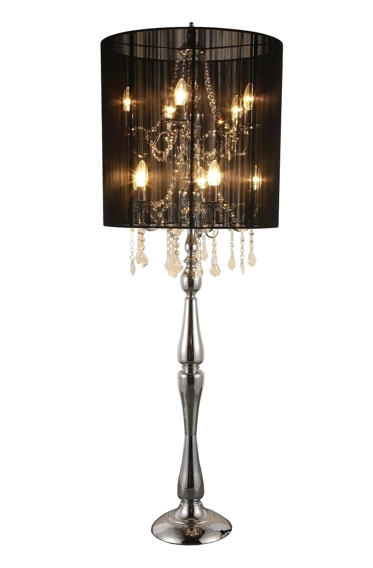 Black Chandelier Standing Lamps With Regard To Most Popular Chandeliers ~ Crystal Chandelier Standing Lamps Chandelier Night (View 3 of 20)