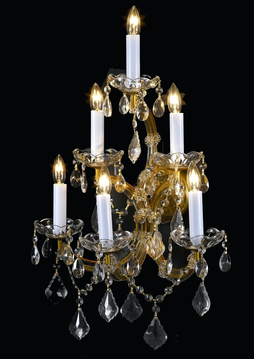 Black Chandelier Wall Lights Intended For Most Recent Chandeliers ~ Crystal Chandelier Wall Sconces A83 6 66 Wall Sconces (View 7 of 20)