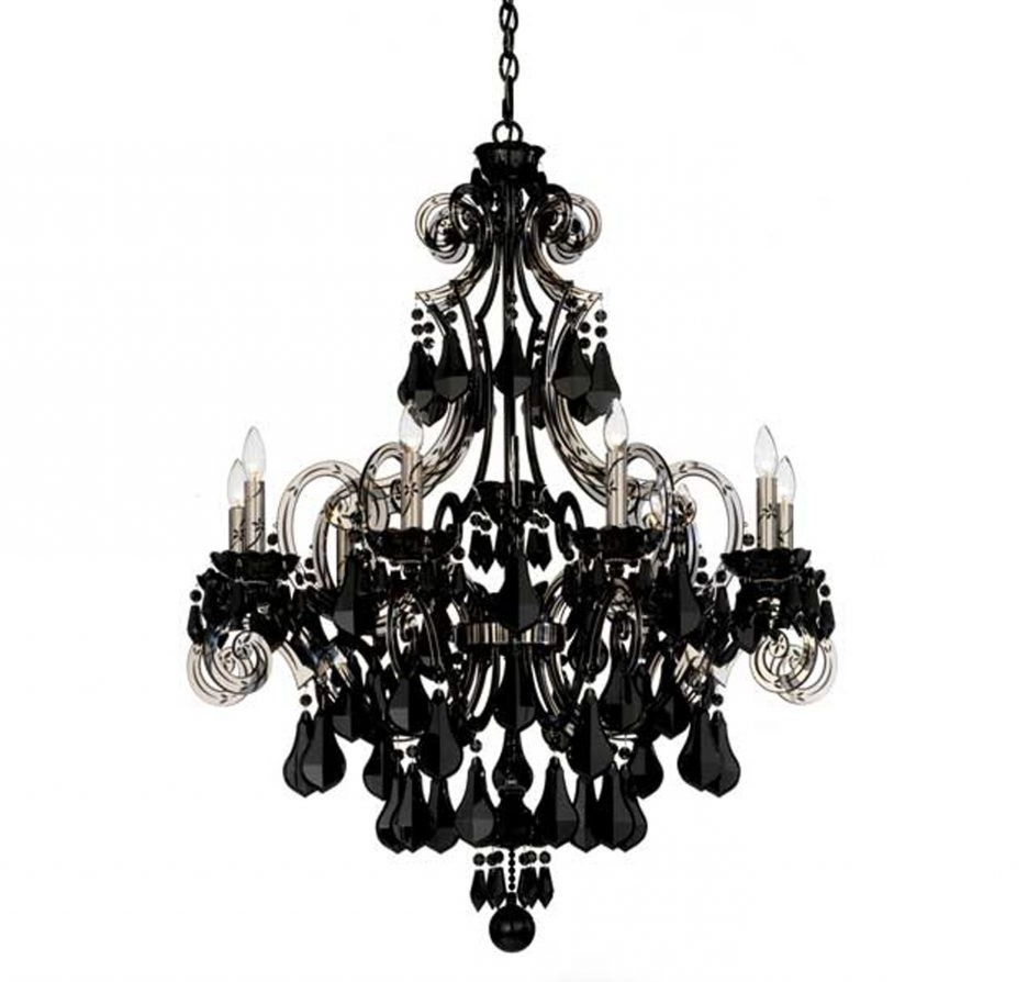 Black Chandelier Wall Lights With Newest Chandelier And Matching Wall Lights # (View 9 of 20)