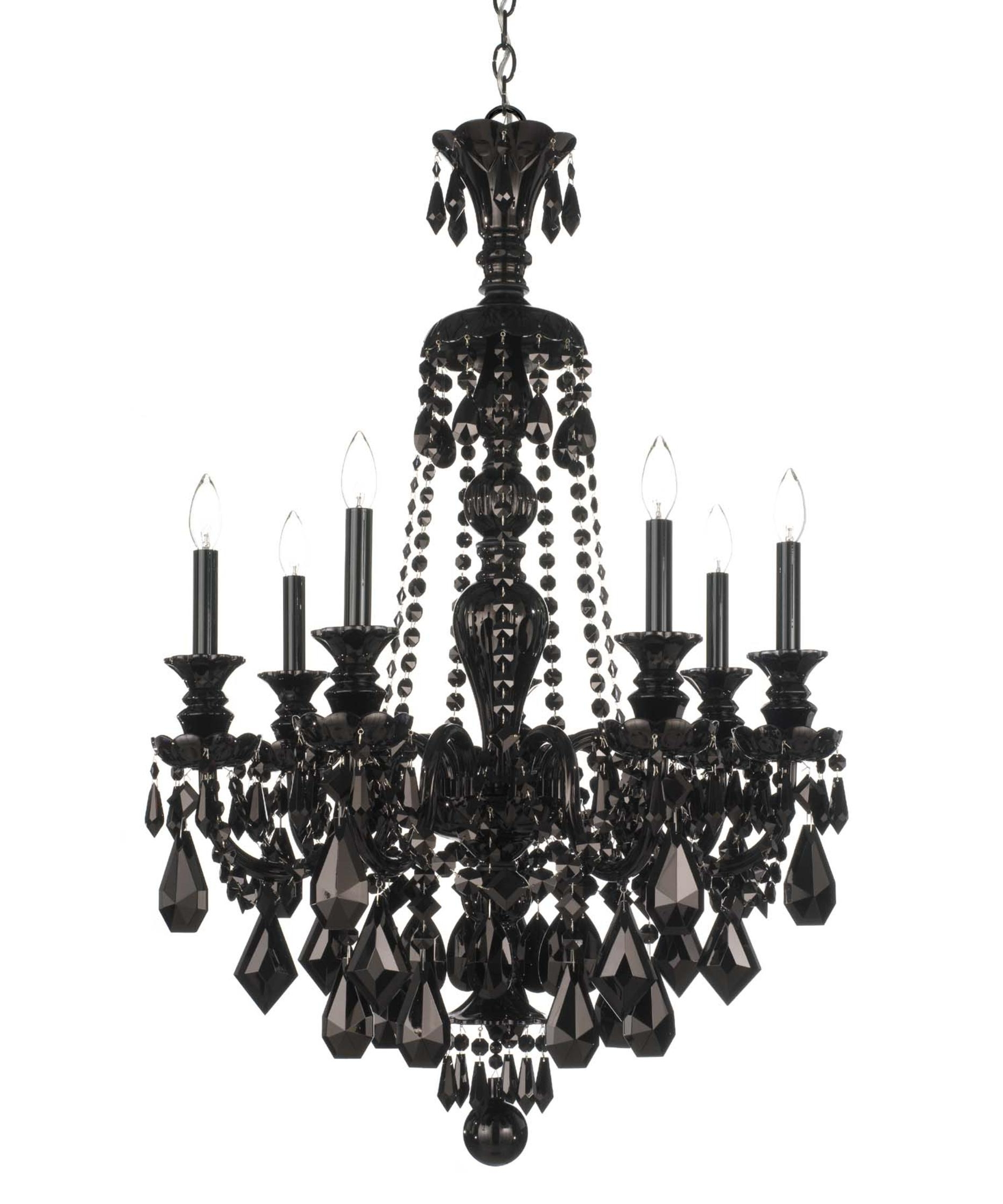 Black Chandelier With Current Schonbek 5706bk Hamilton Black 26 Inch Wide 7 Light Chandelier (View 7 of 20)