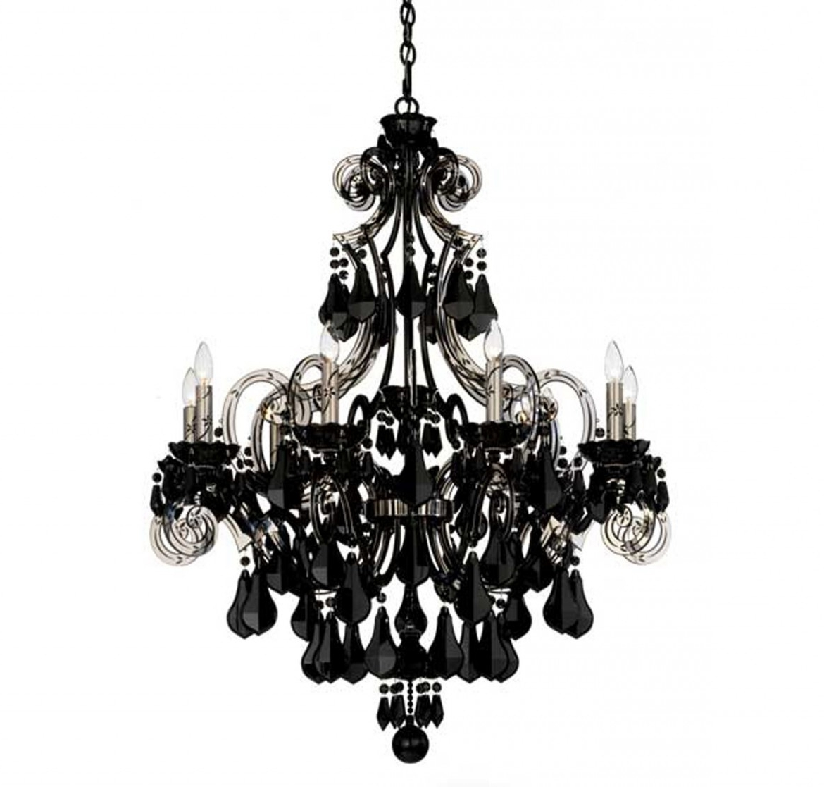 Black Chandeliers For And Chandelier Bedroom Modern Crystal Home Pertaining To 2018 Modern Black Chandelier (View 6 of 20)