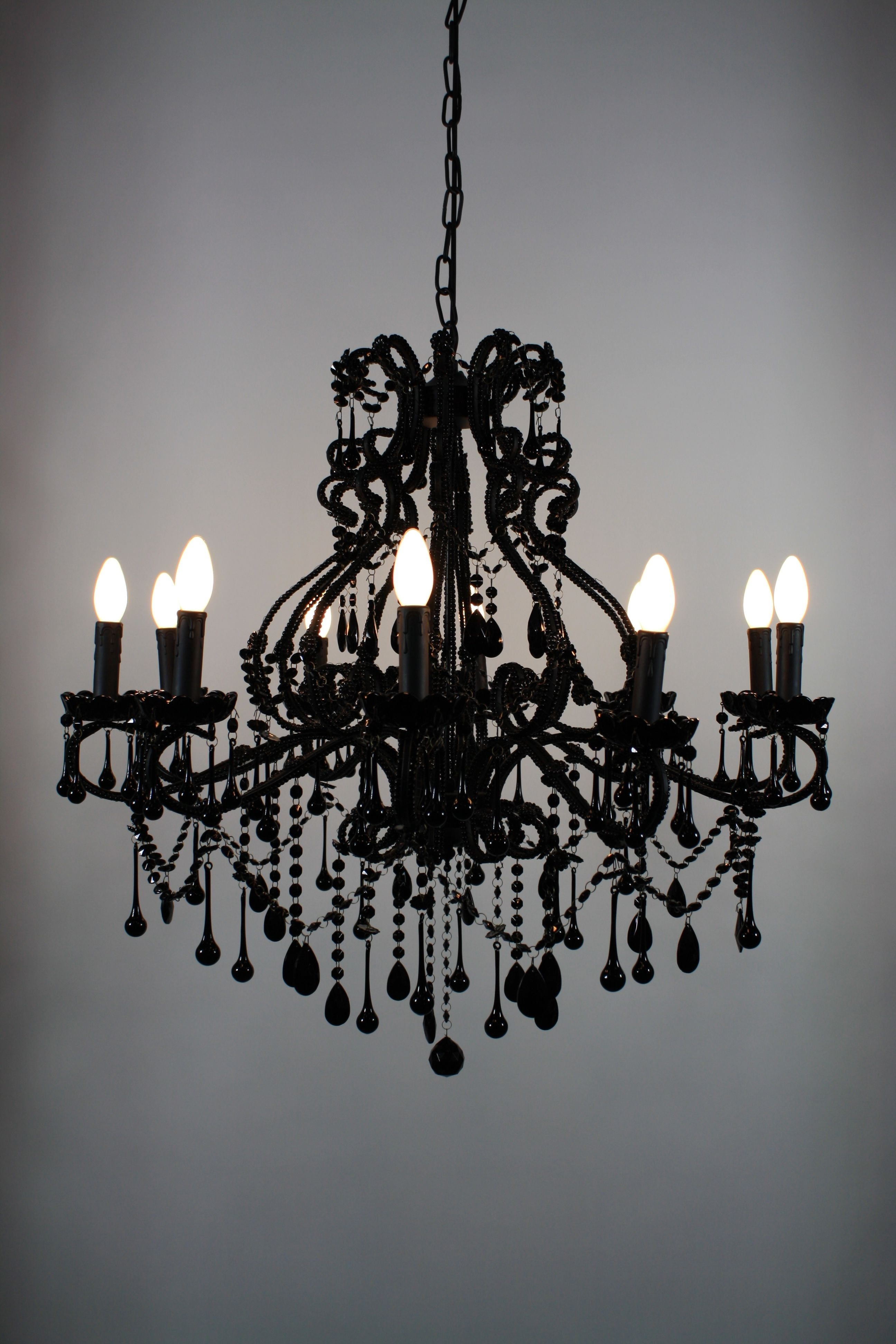 Black Chandeliers Intended For Widely Used Goth Chandelier! – Black Vintage Chandelier (View 5 of 20)