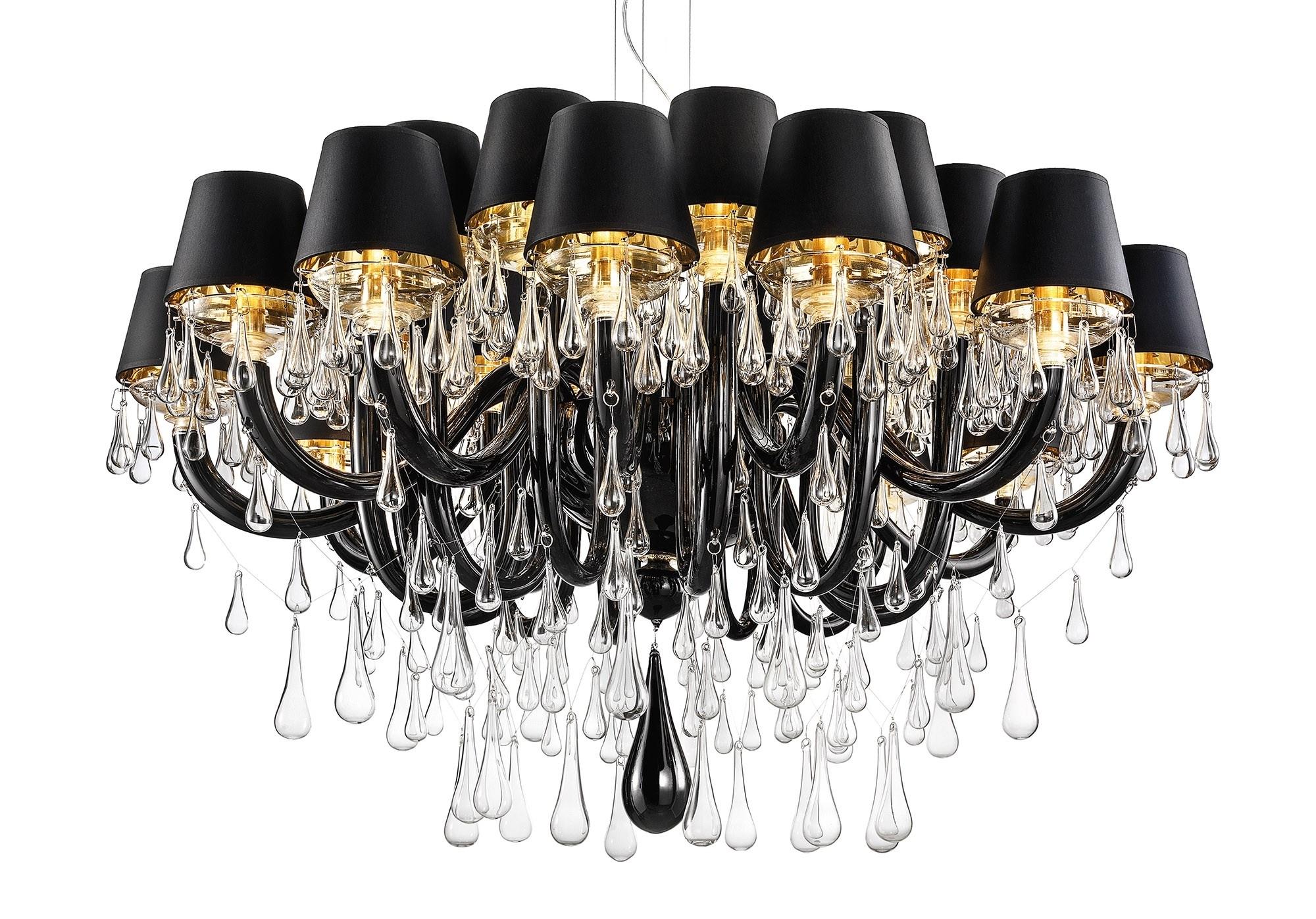 Black Glass Chandelier For Favorite Modern Murano Chandelier Dmgouttes24K – Murano Lighting (View 4 of 20)