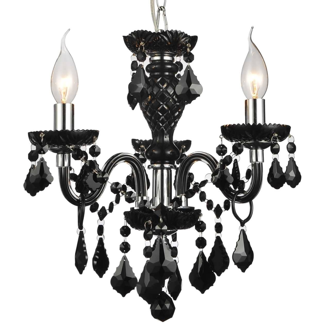 Black Gothic Chandelier Pertaining To Best And Newest Chandeliers Design : Fabulous Gothic Chandelier Black Wrought Iron (View 6 of 20)