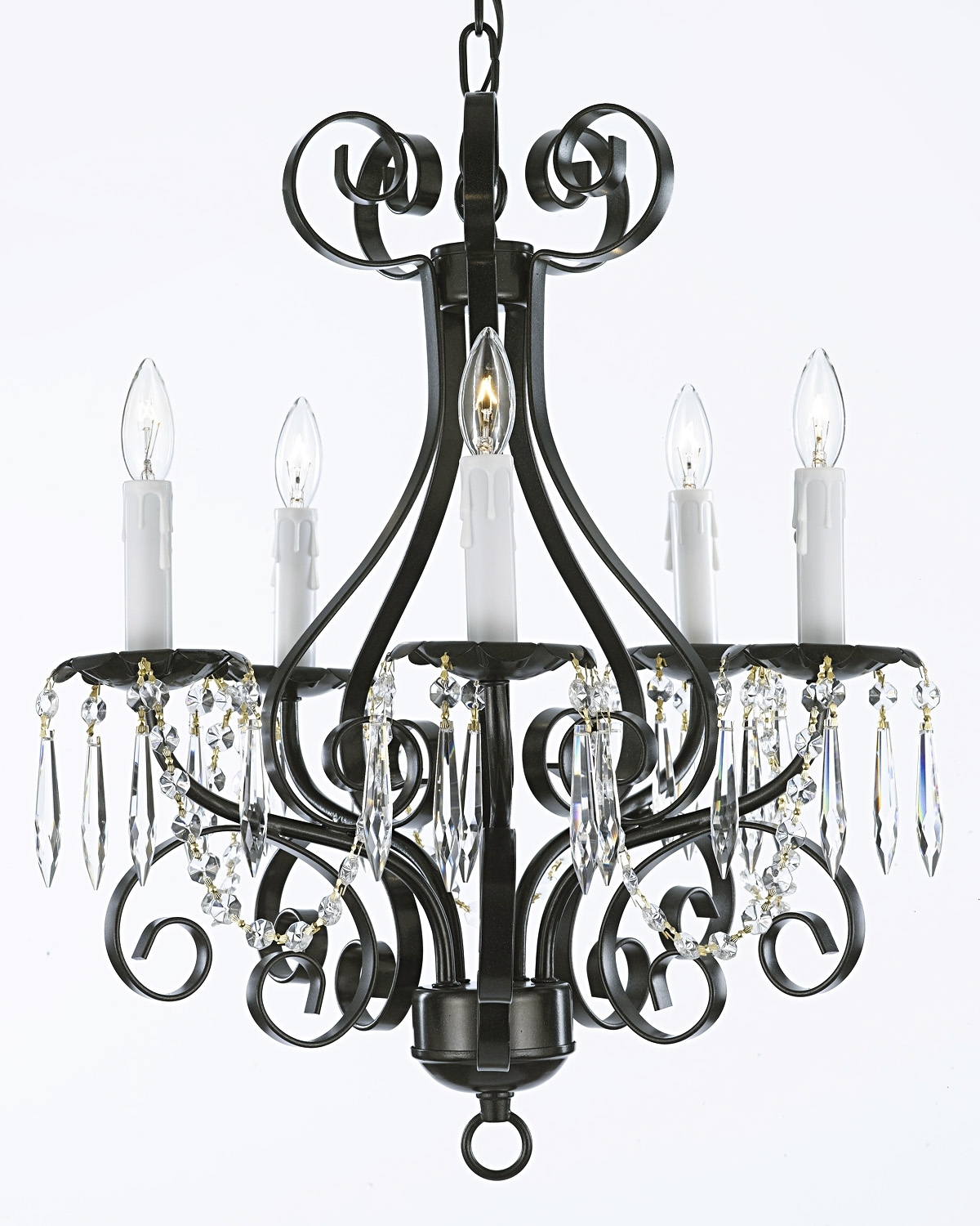 Black Iron Chandeliers With Regard To Most Up To Date Chandelier (View 11 of 20)