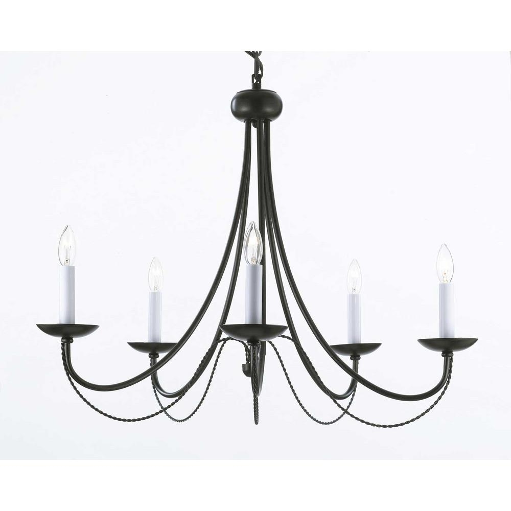 Featured Photo of Black Iron Chandeliers