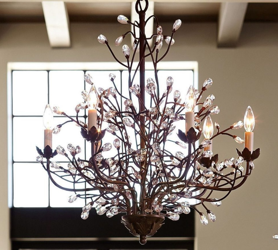 Branch Chandeliers With Regard To Well Known Chandeliers : Cheyenne Crystal Branch Chandelier Contemporary (View 5 of 20)