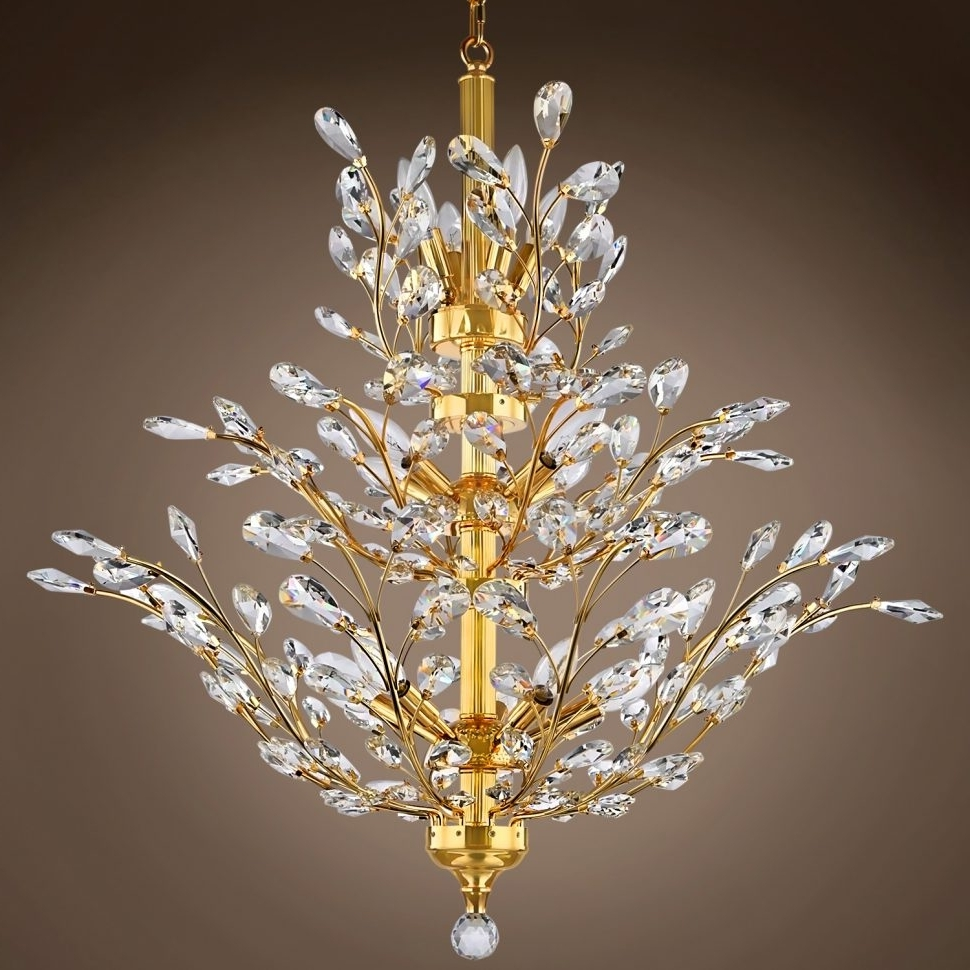 Branch Chandeliers With Regard To Well Liked Chandeliers : Collection Of Crystal Branch Chandelier Ideas Cheyenne (View 6 of 20)