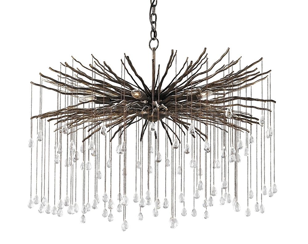 Branch Crystal Chandelier With Regard To Favorite Bronze Branch And Crystal Chandelier – The Designer Insider (View 6 of 20)