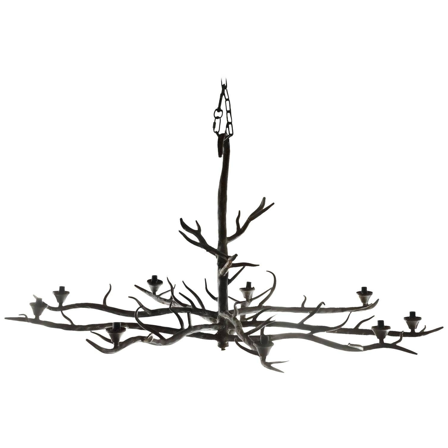 Branched Chandelier Inside 2018 Chandelier : Modern Branch Chandelier Rectangular Chandelier (View 4 of 20)