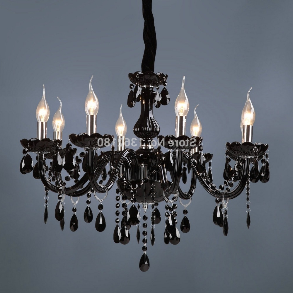 Brand New Classic Black Crystal Glass Chandelier Modern Fashion Art Within 2019 Black Glass Chandelier (View 11 of 20)