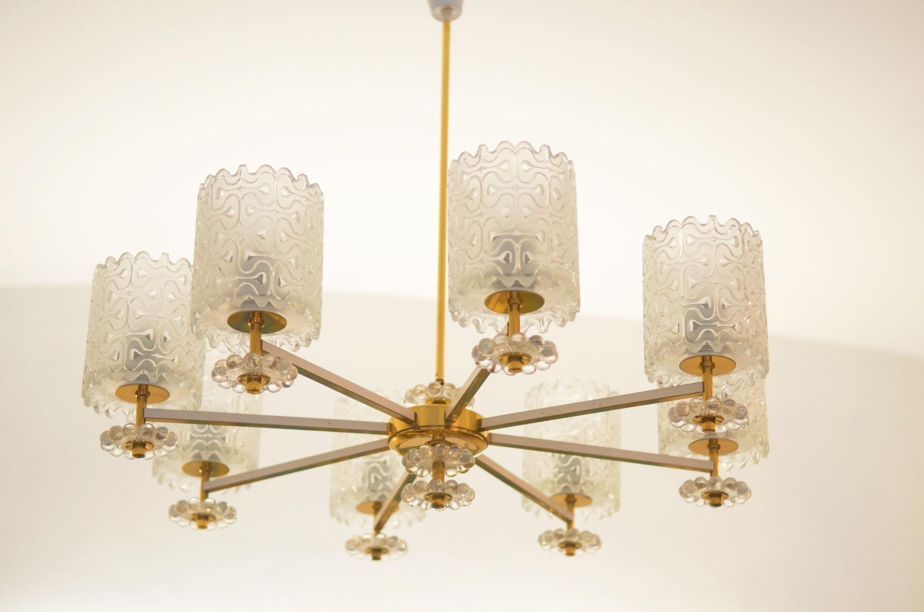 Brass And Glass Chandelier Inside 2019 Vintage Brass And Glass Chandelier From Austria, 1970S For Sale At (View 5 of 20)